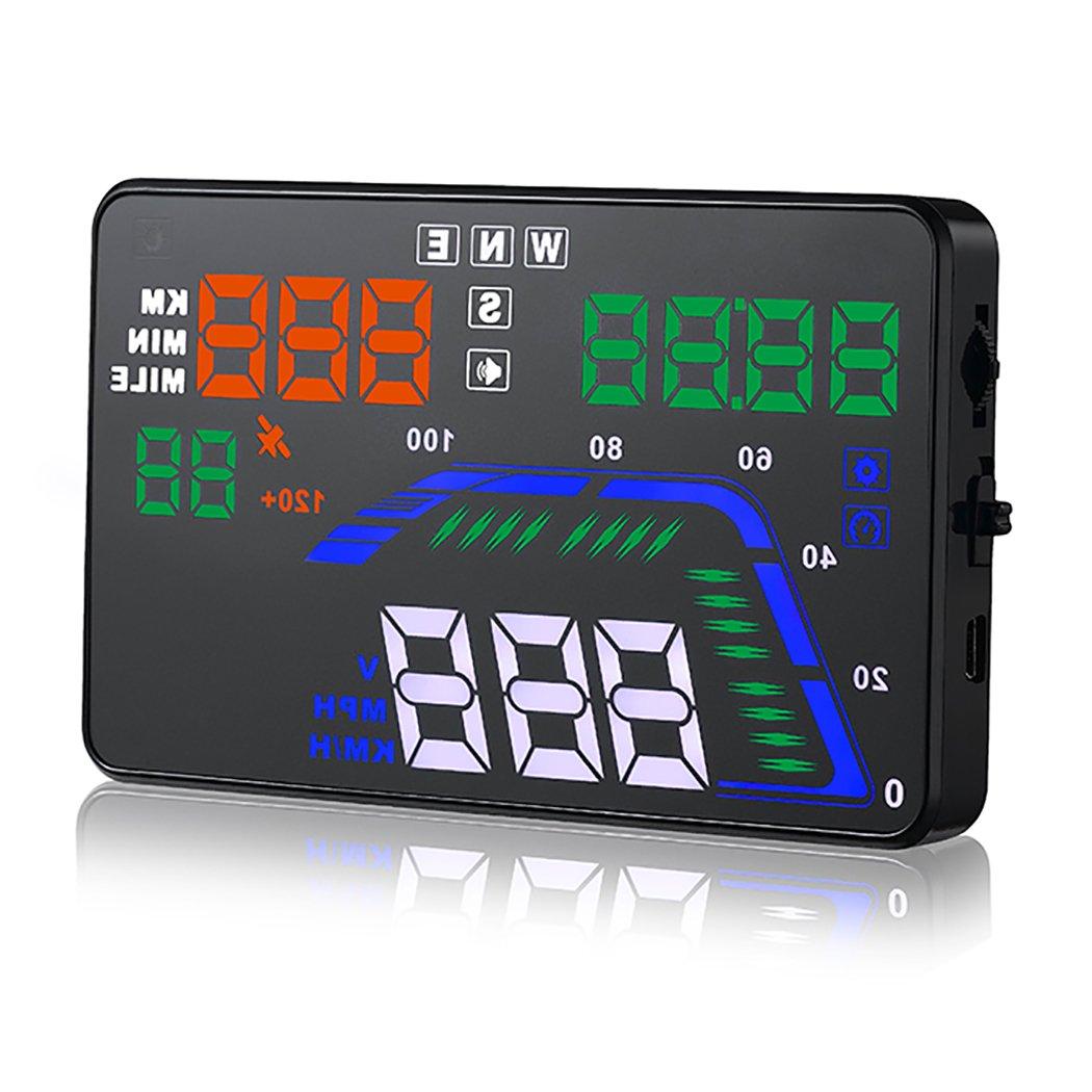 Fansport Q7 Head Up Display Car HUD Over Speed Warning GPS Windshield Projector
