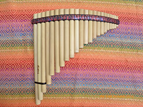 Yzarra Pan Flute 22 Pipes from Peru Case Included - Item in USA