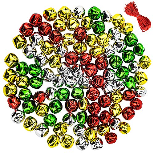 - CEWOR 100pcs 1inch Jingle Bells Colorful Christmas Metal Bells Craft for Festival Decoration DIY Charms Jewelry Making (100pcs)