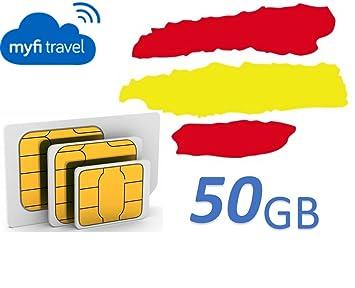 myfitravel tarjeta SIM de 50GB para España: Amazon.es ...