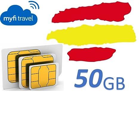 myfitravel tarjeta SIM de 50GB para España: Amazon.es: Electrónica