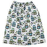 Pail Liner for Cloth Diapers Nappy Inserts Large Wet Bag Elastic Washable Reusable 27.6in x29.5in (Owl)