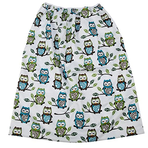 - Pail Liner for Cloth Diapers Nappy Inserts Large Wet Bag Elastic Washable Reusable 27.6in x29.5in (Owl)