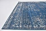 Traditional 8 feet by 11 feet (8' x 11') Sofia Blue