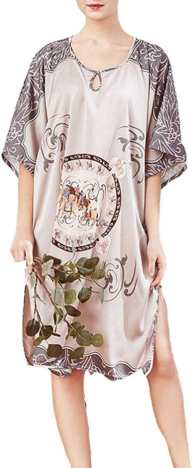 Pijama Mujer Saten Sexy Pieza Verano Tallas Grandes Ropa de ...