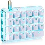Koolertron One Handed Macro Mechanical Keyboard, Portable Mini One-Handed Mechanical Gaming Keypad 23 Fully Programmable Keys (Blue Switches (Blue Backlit))