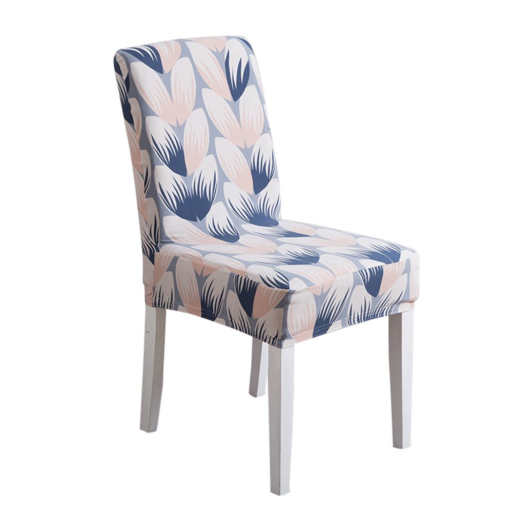 Deisy Dee Colorful Polyester Stretchable Removable Washable Dining Chair Covers Seats Slipcover for Wedding Party Hotel C036 (Check)