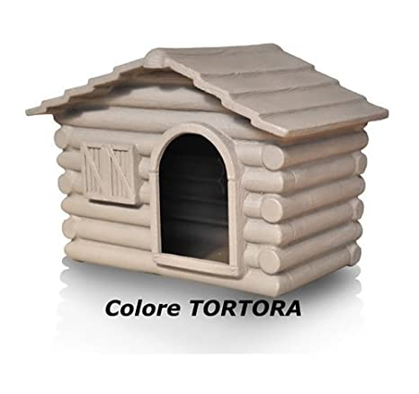 TELCOM - Caseta para perros, de resina, ideal para el campo, tamaño pequeño