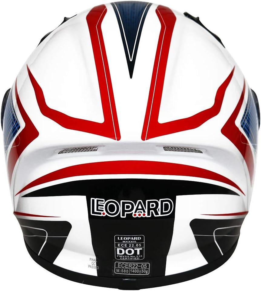 Leopard LEO-813 Full Face Motorcycle Motorbike Helmet ECER 22.05,Pink Graphic XL 61-62cm