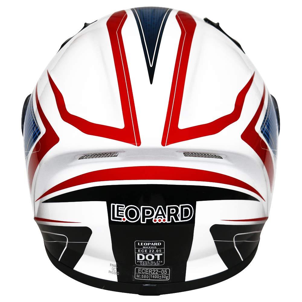 Butterfly L Leopard LEO-819 Full Face Motorbike Helmet Motorcycle Road Legal 59-60cm