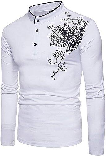 Camiseta Larga De Manga Larga para con Botones Hombre Modernas Casual Camiseta De Manga Larga Slim Fit Tops De Manga Larga De Otoño Moda Casual Camisas Básicas Tops: Amazon.es: Ropa y accesorios