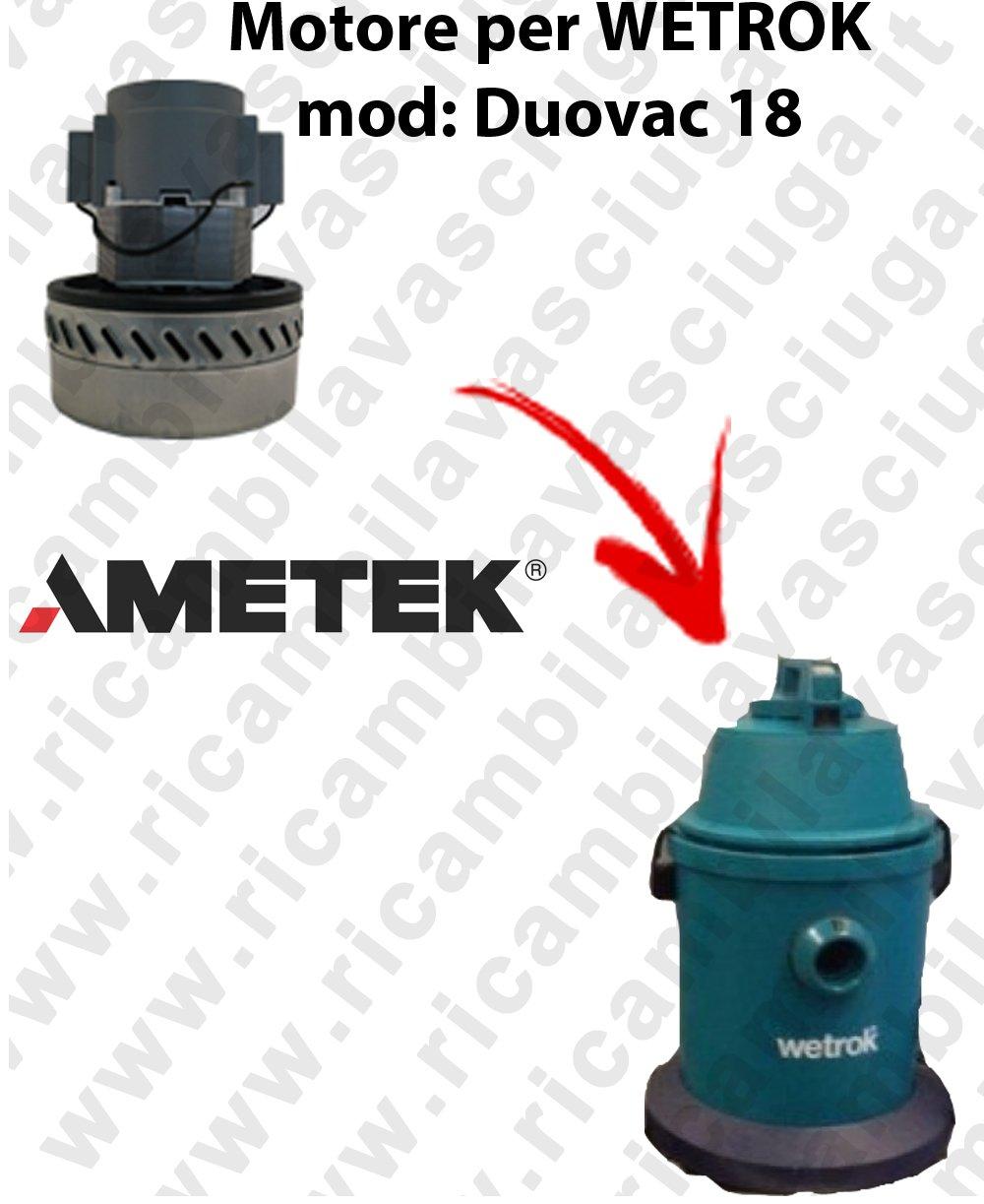 duovac 18 Motor aspiración ametek para aspiradora Wetrok: Amazon ...