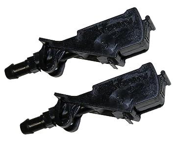 AERZETIX: 2 x Boquillas de limpiaparabrisas frente para coche C10139: Amazon.es: Hogar