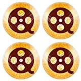 MSD Round Coasters Non-Slip Natural Rubber Desk Coasters design 29709097 Movie Icons Film Flat with abstract background