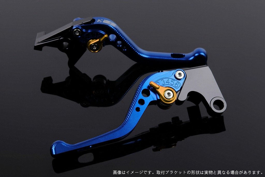 SSK アジャストレバー 3Dショート レバー本体カラー:ブルー アジャスターカラー:ゴールド TUONO V4R/Factory 2011-2016 AP0407112-GD B07MX822ZL