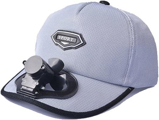 Ventilador Sombrero De Refrigeración USB De Carga Al Aire Libre Protector Solar De Protección Solar Sombrero De Golf De Béisbol Transpirable,Grey: Amazon.es: Hogar