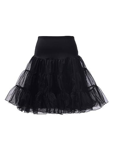 "Topwedding 50er 60er kurzer Petticoat Reifrock Rockabilly 26"" Unterröcke, Größe 30-56"