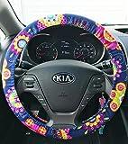 Steering Wheel Cover | Girly Steering Wheel Covers | Handmade Gifts | Navy Floral Flowers