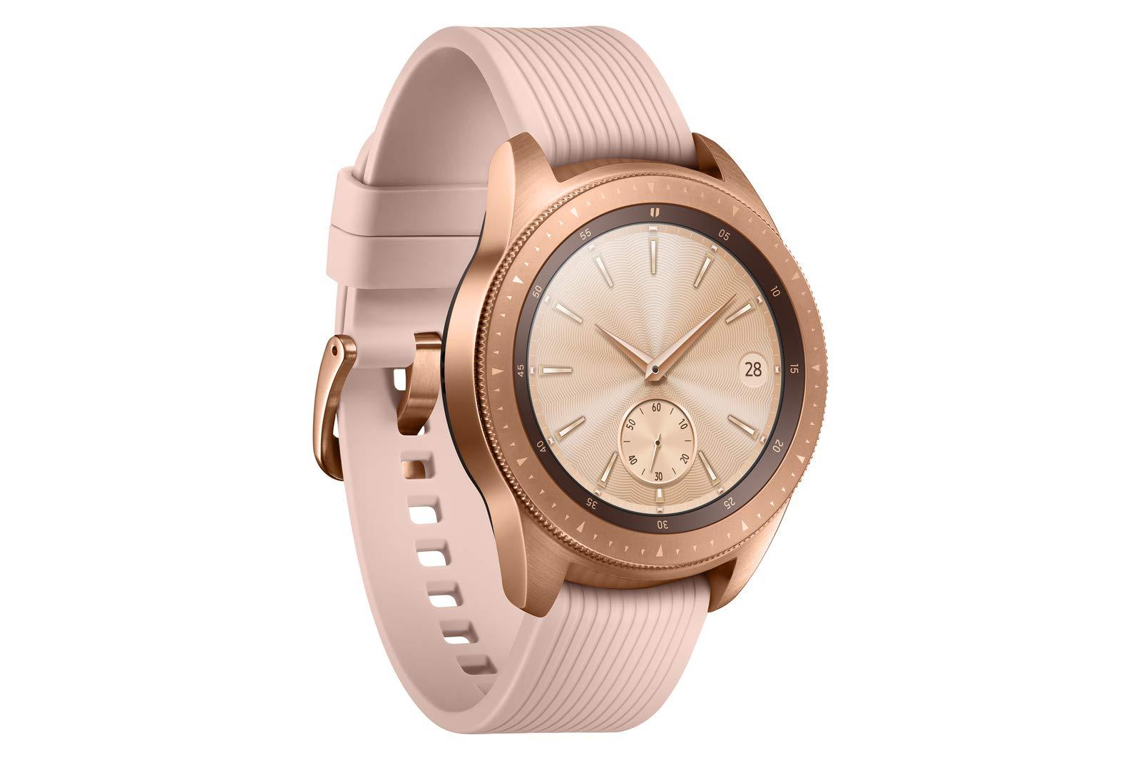 Samsung Galaxy Watch (42mm) SM-R810NZDAXAR (Bluetooth) - Rose Gold (Renewed) by Samsung