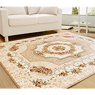 Generic 5374-inch Contemporary and Contracted European Rose Bedroom Living Room Sofa Tea Table Big Chenille Blanket Carpet,Green
