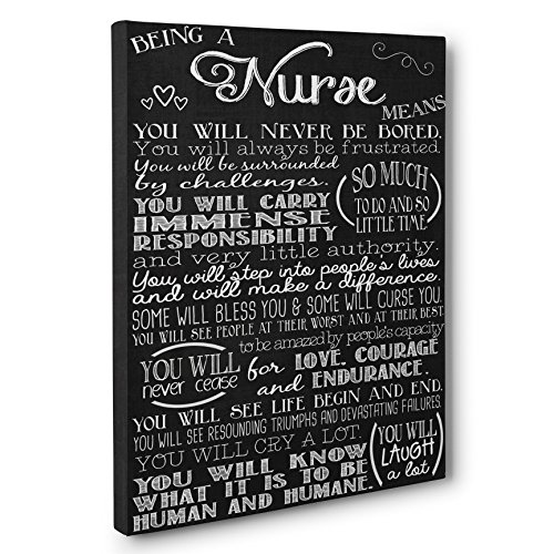 Being a Nurse Means Subway Sign CANVAS Wall Art - Graduation Gift for Nurse - Registered Nurse