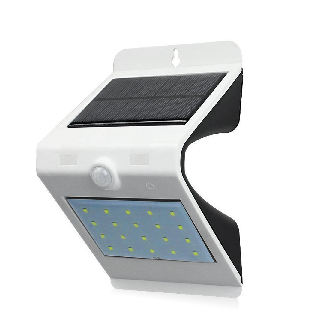 Solar Poweredモーションセンサー屋外セキュリティライトアウトドアwebsun 20 + 4 LED壁ライトホワイト B071YH214J 11409