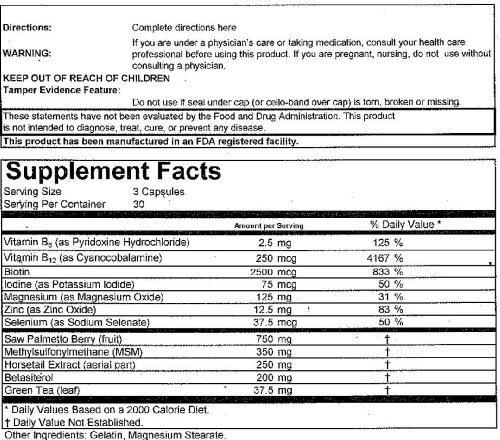 Pro-växa Hair Growth Treatment Vitamins - 90 Day Supply (Pack of 3)
