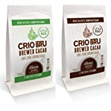 Crio Bru 2 Pack 4 oz Little Bag Ghana Bundle | Organic Healthy Brewed Cacao Drink | Great Substitute to Herbal Tea and Coffee | 99% Caffeine Free Gluten Free Keto Whole-30 Low Calorie Honest Energy