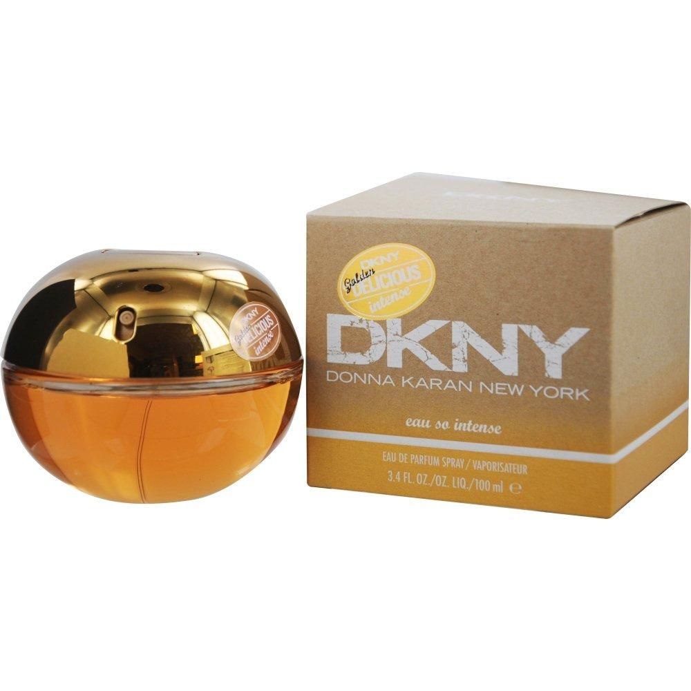 Donna Karan Eau de Parfum Spray for Women, Golden Delicious Eau So Intense, 3.4 Ounce