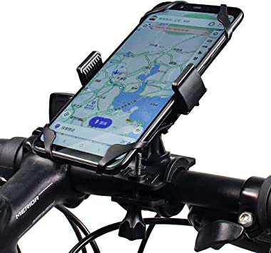 Renzer Soporte Movil Bicicleta 360 Grados Universal Sporte Telefono para Bicicletas y Motos Negro: Amazon.es: Deportes y aire libre