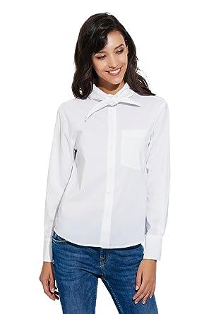 a489a153bcf APRLL Women s Basic Long Sleeve Button Down Shirt Fashion Office Tops ...