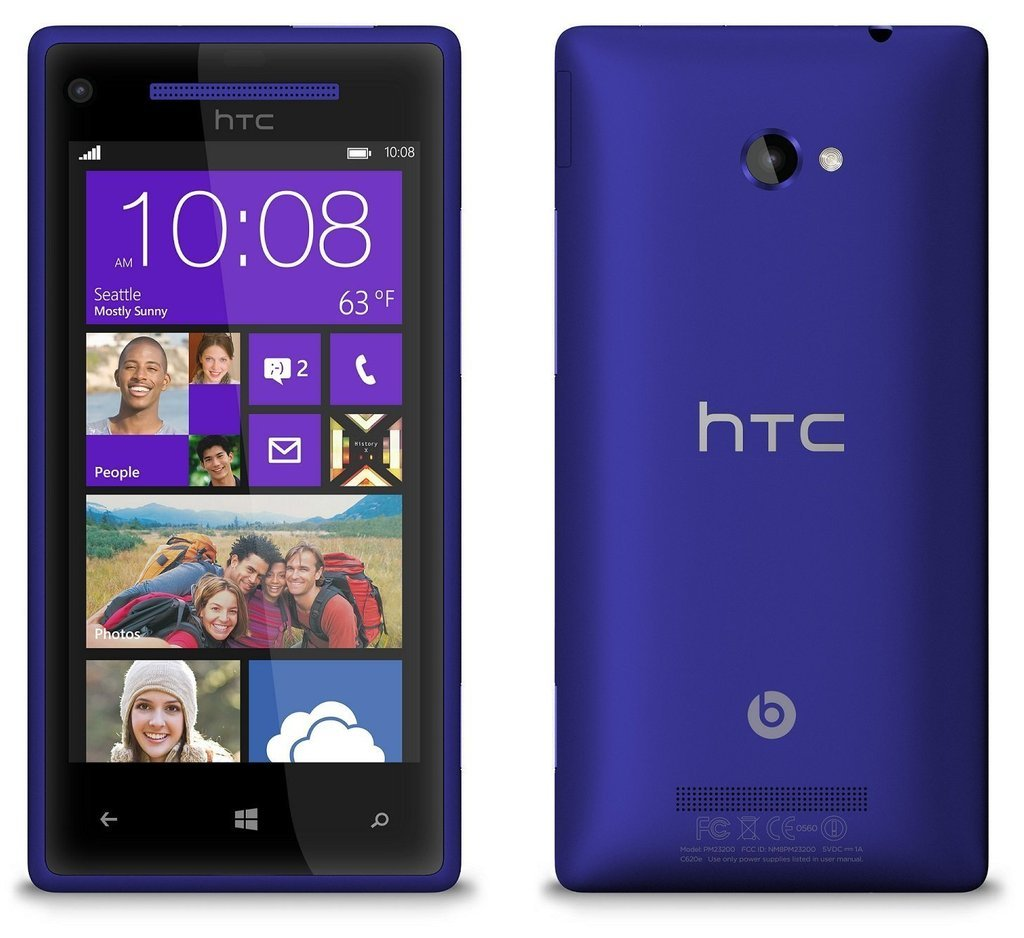 Amazon.com: HTC 8X 16GB Windows 8 Smartphone w/ 8MP Camera (Blue): Cell  Phones & Accessories