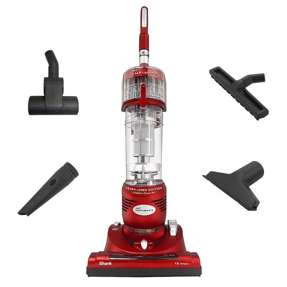 Amazon.com: Shark Infinity Euro-Pro Cyclonic Upright Bagless Vacuum with  Tools, Red | NV31W: Canister Vacuums: Kitchen & Dining