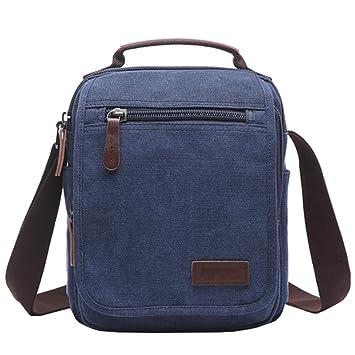 3efacef4230 Mygreen Men Small Vintage Canvas Messenger Bag Cross Body Bag Pack  Organizer Satchel Bag Durable Multi-Pocket Sling Shoulder Bag  Amazon.co.uk   Luggage