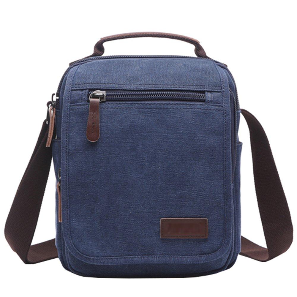 El-fmly Canvas Shoulder Bag Messenger Bag Ipad Satchel Bag for work Men Women LZD001-HS