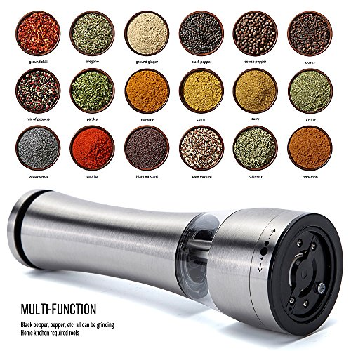 Electric Salt and Pepper Grinder Shakers, CANPER Battery ...