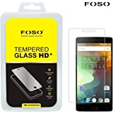 FOSO() OnePlus 2 / OnePlus Two Round Curved 2.5D Edge 9H Hardness Toughened Tempered Glass Screen Guard Protector (2015 Model/Dual SIM Version)