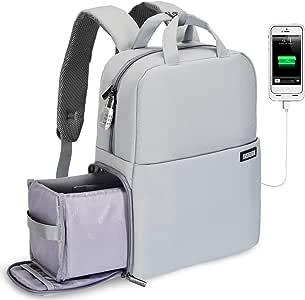 eletyuty DSLR//SLR Camera Backpack Waterproof Shockproof Camera Case Laptop Backpack with Tripod Holder Green L#