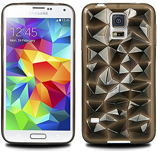 S4 Case, Samsung Galaxy S 4 Crystal Jelly , Mobile Soft Crystal Jelly Case - Retail Packaging (Light Black)
