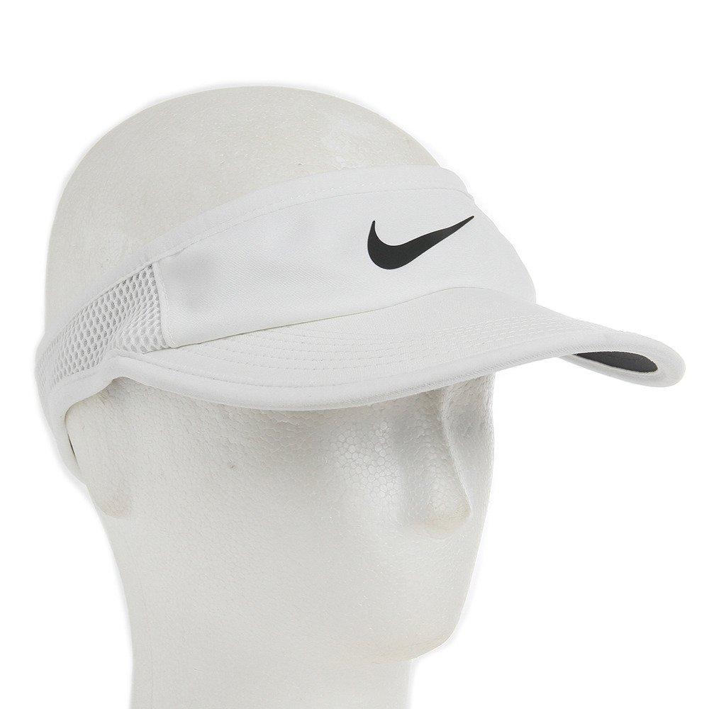 Amazon.com: NIKE Court Featherlight Tennis Visor Black/White Size  Small/Medium: Sports & Outdoors