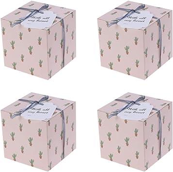 Amosfun - Lote de 8 mini cajas para tartas, galletas, caramelos ...