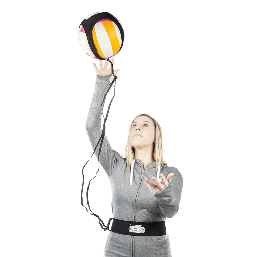 Red Oak Collections Indoor Outdoor Volleyball Training Tether: Practice Trainer Equipment Gear Aids Serving Spike & Setting Skills for Kids High School Junior Pro & Beach Players