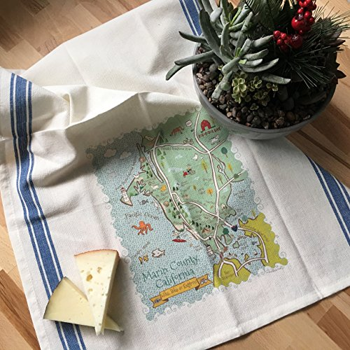 Marin County Map Kitchen \ Kitchen Tea Towel