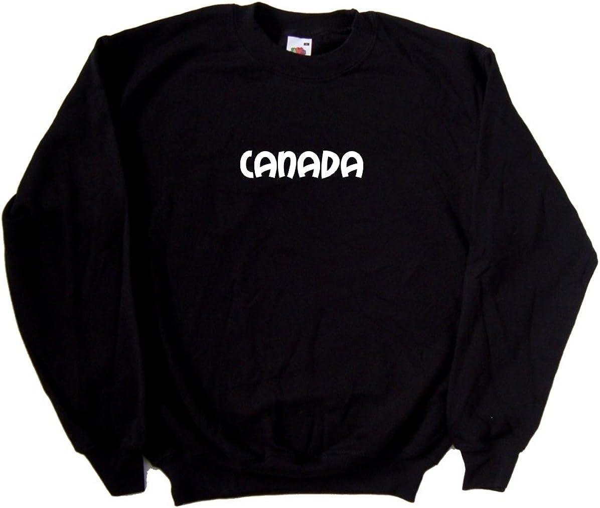 Canada text Black Sweatshirt