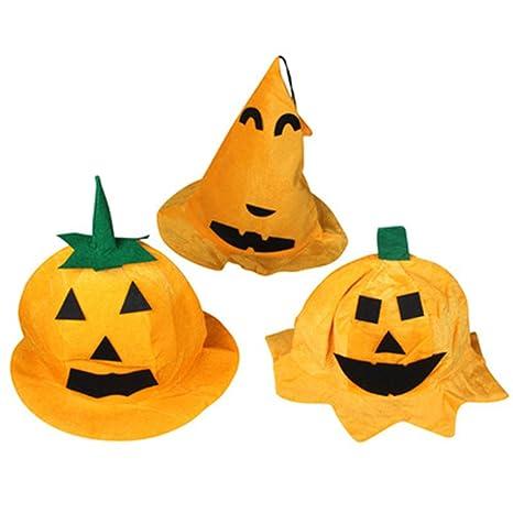 859614087cc30 cosanter 3pcs Halloween calabaza sombrero Calabaza barril tapa de niños  calabaza octogonal Dress Up Cosplay props