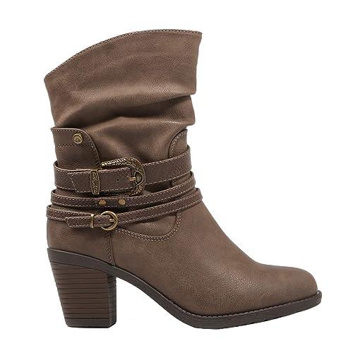 0cbec7bbd Chika 10 KURAZO 03 Taupe Botas Marron Oscuro para Mujer  Amazon.es  Zapatos  y complementos