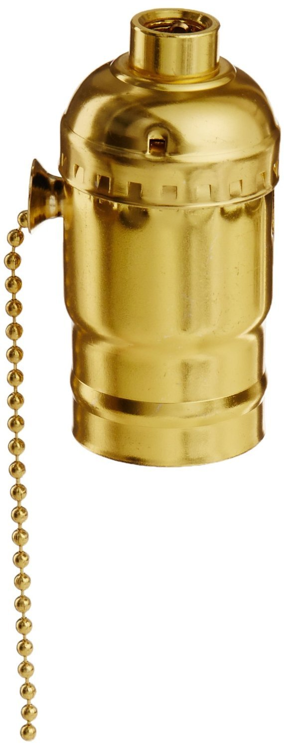 Morris 45203 Pull Chain Lamp Holder 3-Way Brass Morris Products