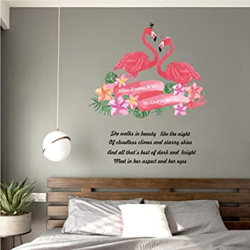 Meaosy Amour Anglais Sticker Mural Moderne Style Scandinave Chambre ...