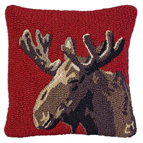 Velvet Moose on Red - 18