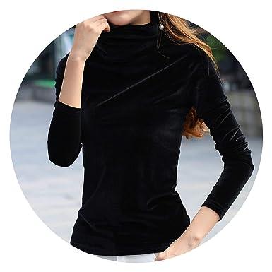 7322b15479e New onSle Warm Turtleneck Top Velour T-Shirt Plus Size Tee Tops Fe CS399 at  Amazon Women s Clothing store
